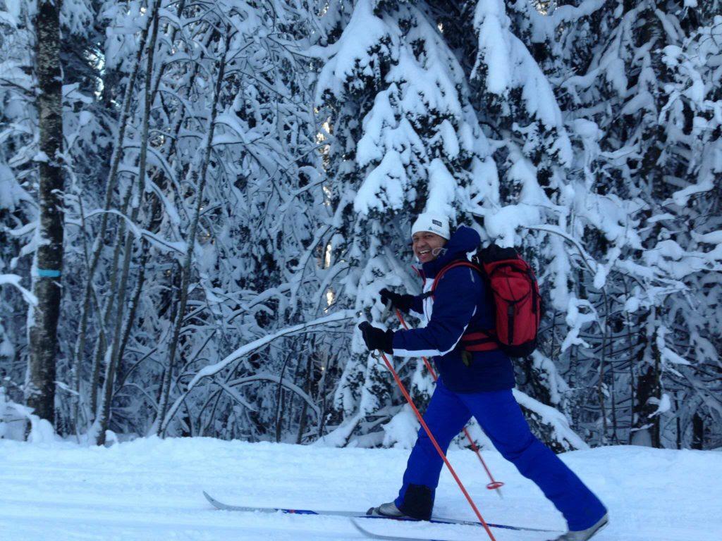 Jahangir på ski