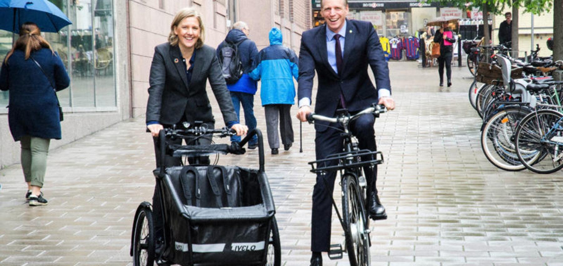svenske ministre på elsykkel