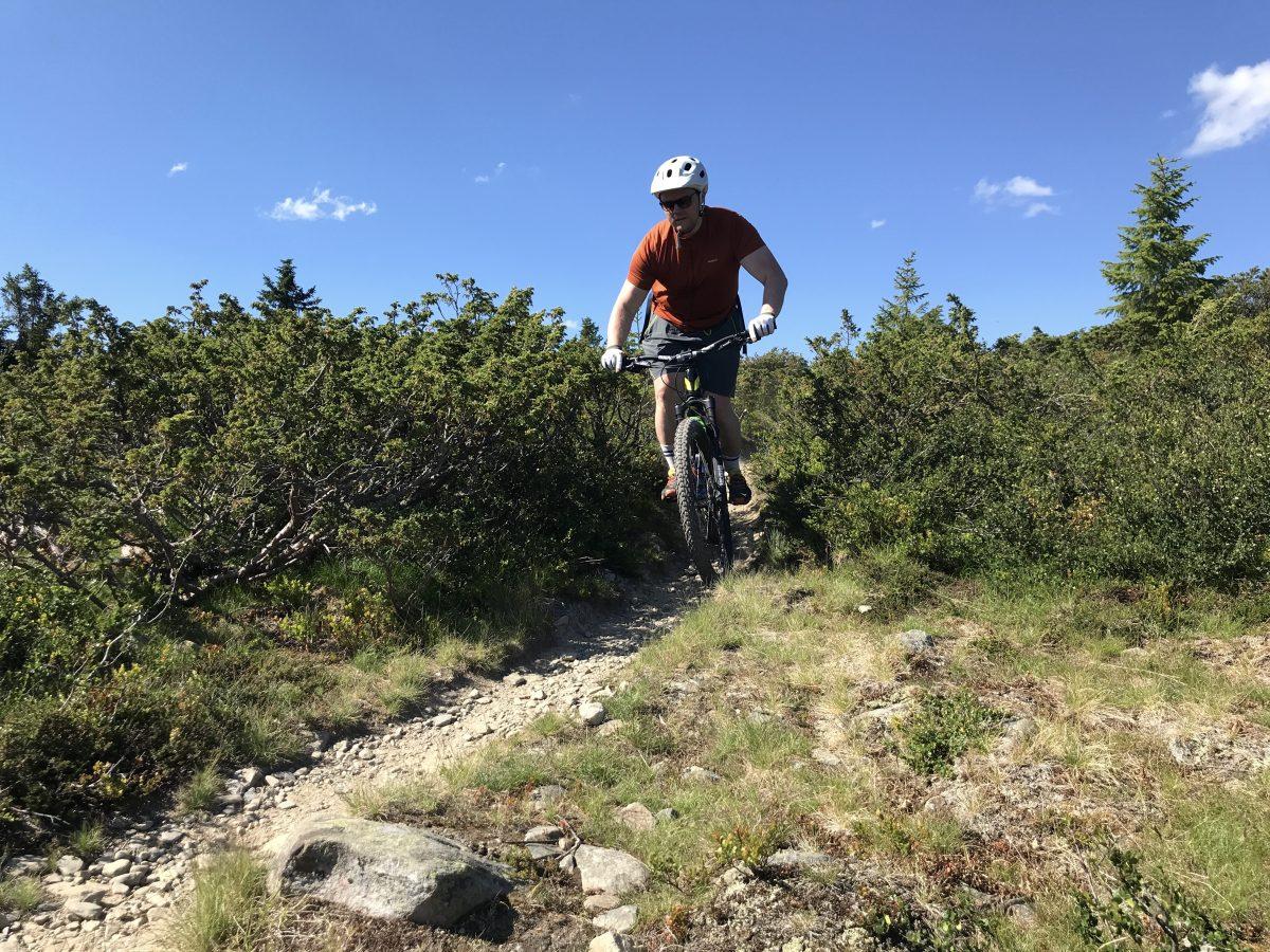 Terrengsyklist på fjellet