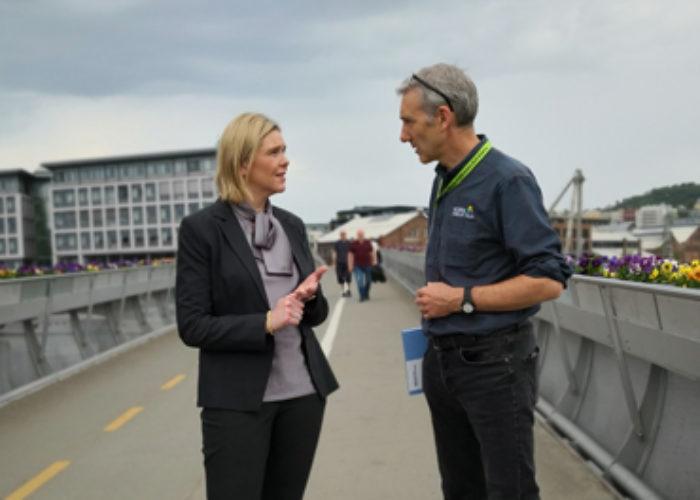 Sylvi Listhaug og Lasse Heimdal