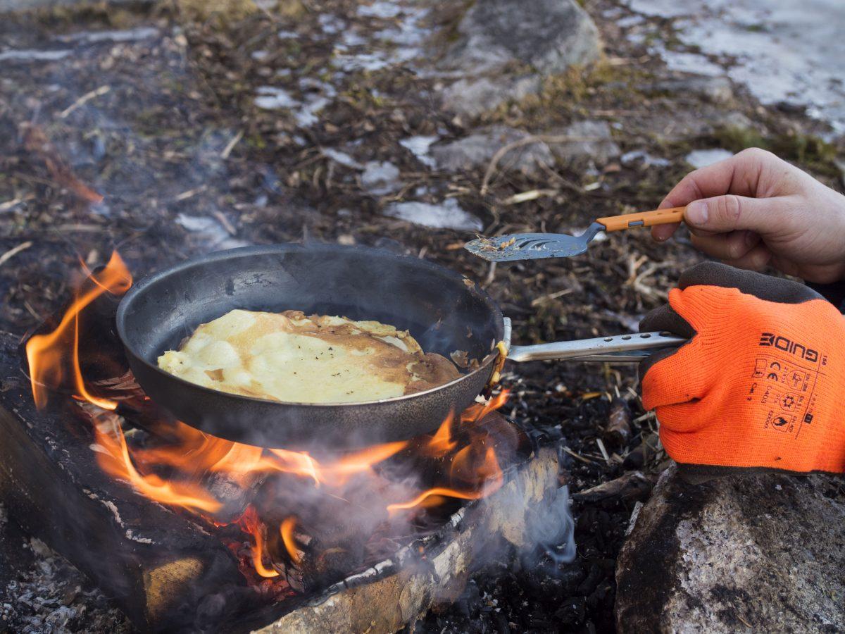 Pannekake på bål