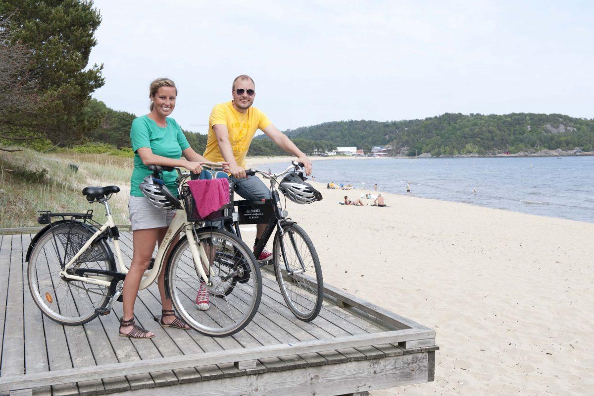 To syklister på Sørlandet